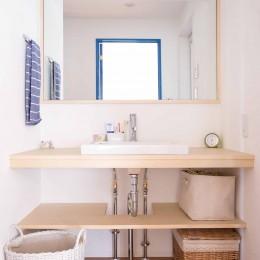 room blue ballen~「妻に心ときめくキッチンを」。想い溢れるワンルーム的リノベーション~ (洗面)