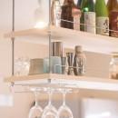room blue ballen~「妻に心ときめくキッチンを」。想い溢れるワンルーム的リノベーション~の写真 キッチン吊戸棚