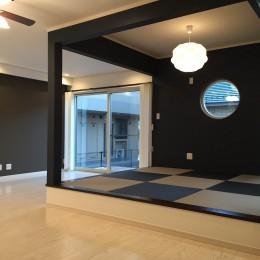 モダンな和空間のある家