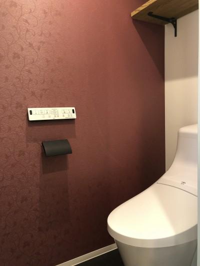 トイレ (マンション×リノベーション【 軽やかにブラック 】 T様邸)