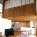 軽井沢の家~木々を一切切らずそのままの敷地を生かし、そこにそっと置いてあげたような住宅~の写真 軽井沢の家 リビングダイニングキッチン