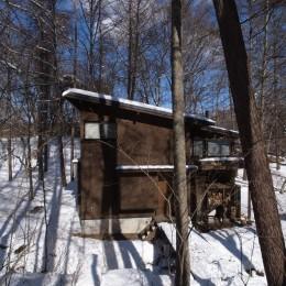 軽井沢の家~木々を一切切らずそのままの敷地を生かし、そこにそっと置いてあげたような住宅~ (軽井沢の家 外観3)