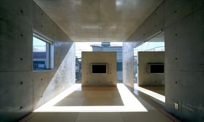 2階和室|下町のコンクリートCUBE -コンクリート打ち放し-