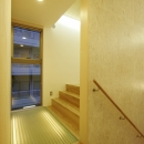 スキップフロア中間階廊下