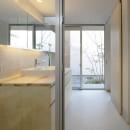 sadaltager/方位性を失うことのできるコートハウスの作り方を考える。の写真 洗面所