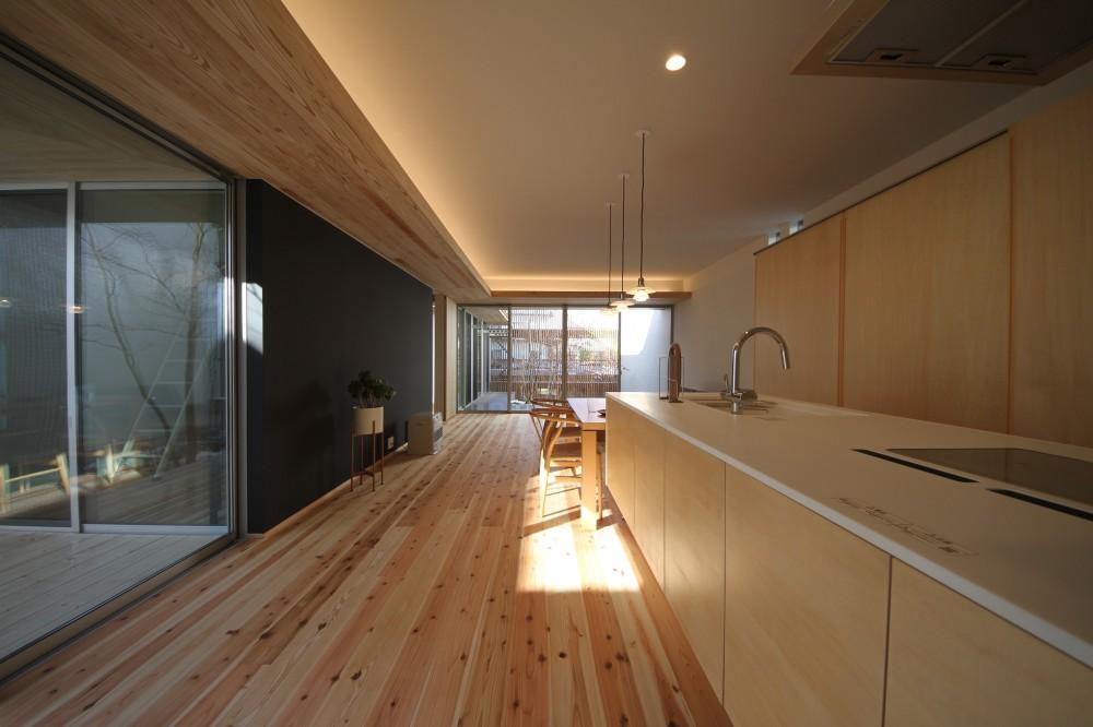 sadaltager/方位性を失うことのできるコートハウスの作り方を考える。 (キッチン)