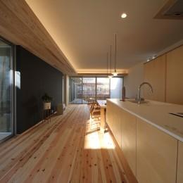 キッチン (sadaltager/方位性を失うことのできるコートハウスの作り方を考える。)