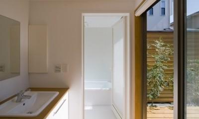 遠藤の家 洗面脱衣室|遠藤の家~中庭から穏やかな光が差し込む家~