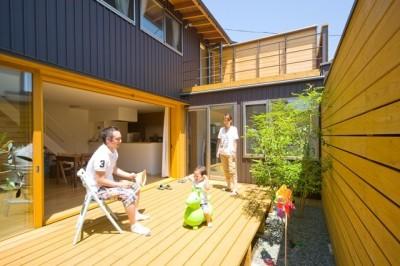遠藤の家 日々の風景3 (遠藤の家~中庭から穏やかな光が差し込む家~)