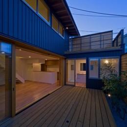 遠藤の家~中庭から穏やかな光が差し込む家~ (遠藤の家 夕景2)