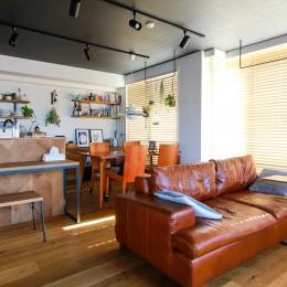 集って楽しいカフェテイストの家