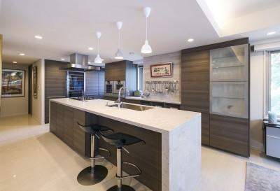 キッチン (モダンとオリエンタルの融合、調度品が映える上質なLDK)