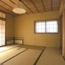 黄土塗壁の茶室