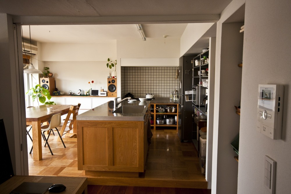 FMhouse // 築50年を過ぎたマンションのリノベーション (ダイニングキッチン)