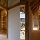 姉ヶ崎の家 大屋根と3つの庭|新築の写真 中庭に面した明るい回廊