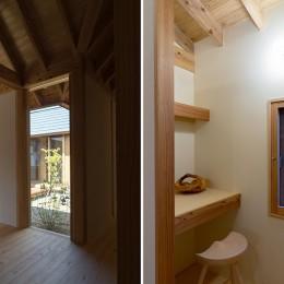 姉ヶ崎の家 大屋根と3つの庭|新築 (玄関とパントリー)