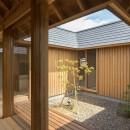 姉ヶ崎の家 大屋根と3つの庭|新築の写真 居間に面した中庭。居間にいながら開放感を感じられます。