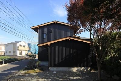 小谷の家 外観2 (小谷の家~街並みに庭を寄与する家~)