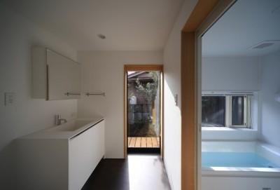 小谷の家 洗面室・浴室 (小谷の家~街並みに庭を寄与する家~)