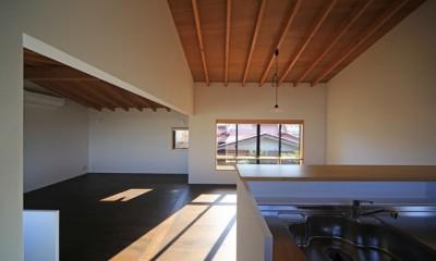 小谷の家 リビングダイニングキッチン2|小谷の家~街並みに庭を寄与する家~