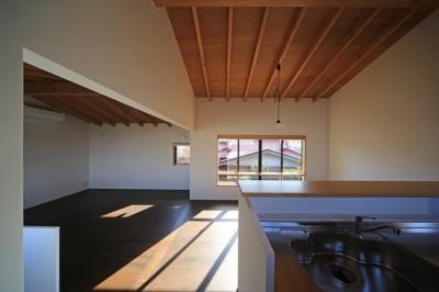 小谷の家 リビングダイニングキッチン2 (小谷の家~街並みに庭を寄与する家~)