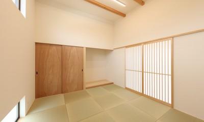 剣道場⇒客間|House in Nakasuji~剣道場のある家~