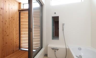 浴室|House in Nakasuji~剣道場のある家~
