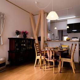 友人たちとおしゃべりを楽しむ空間 (対面キッチン)