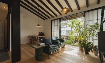 リビング|アレルギー反応を持つ子供が住むための和モダン住宅/美しい空気の家