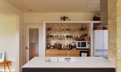 M邸_余白がつくり出す、ゆとりの空間 (キッチン)
