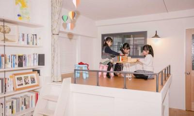 FRAME~小さな三姉妹の将来を夢見るご夫婦の親心がたっぷり詰まった住まい~ (小上がり)