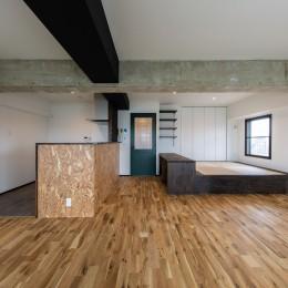広々な土間収納、広々なリビング。天然無垢材をふんだんに使用した、思いの詰まったステキな空間。