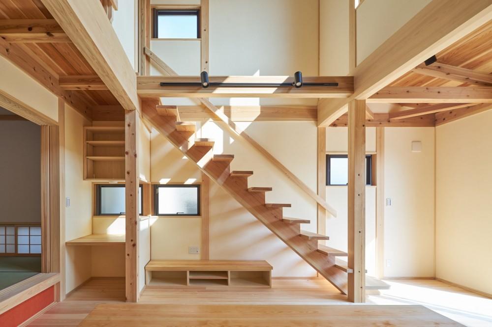 大沢宏「吹抜けのある3室一体の家」