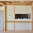 吹抜けのある3室一体の家の写真 回遊できるのキッチン