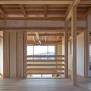 吹抜けのある3室一体の家の写真 吹抜けに面したフリースペース