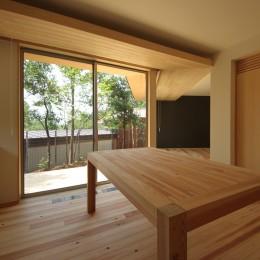 acubens/高台で、基本は平屋だけど、潜望鏡のように2階に上がると富士山が拝めるかたちを考える。