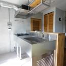 ふたりだけの特別なスペースの写真 ステンレス製のキッチン
