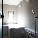 ふたりだけの特別なスペースの写真 モルタル壁とタイルの浴室