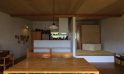 片瀬海岸の家 リビングダイニングキッチン・1|片瀬海岸の家~記憶の風景~