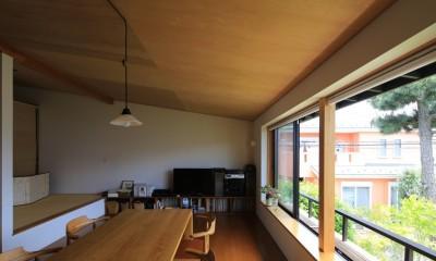 片瀬海岸の家 リビングダイニングキッチン・3|片瀬海岸の家~記憶の風景~