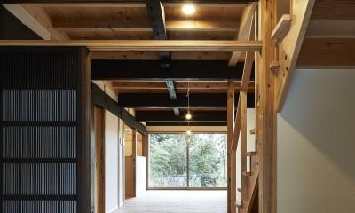 鎌倉の住まい_玄関|鎌倉の住まい_古材を使った和モダンデザイン