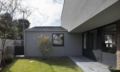 Primitive house (中庭)