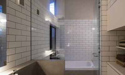 Primitive house (洗面浴室)