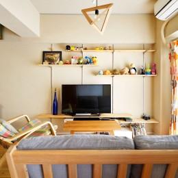 横浜市H様、N様邸 ~ここちよいキョリで暮らす~ (みんなでくつろげるリビング空間)