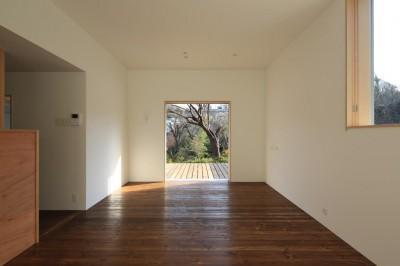 片瀬の家 子世帯LDK・2 (片瀬の家~雛壇敷地に建つ、桜を望める二世帯住宅~)