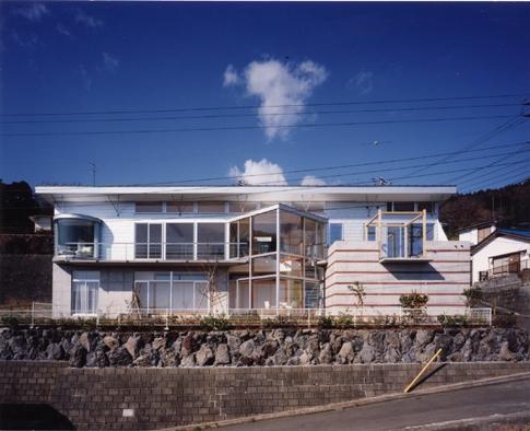 百景楼-海の別荘の部屋 丸、三角、四角の外観