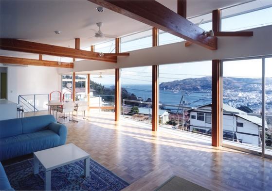 百景楼-海の別荘の部屋 リビングよりの眺望