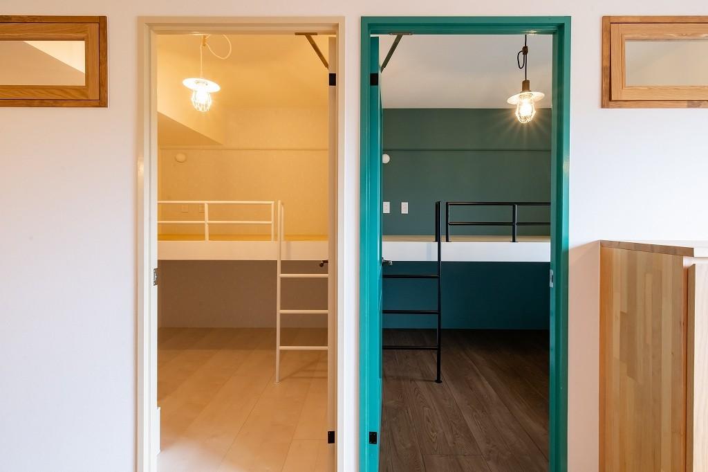 子供部屋事例:子供部屋(nest~好きなモノやコトの集合体、入れ子(=nest)のような住まい~)