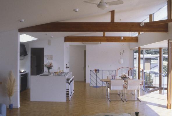 百景楼-海の別荘の部屋 アイランドカウンターのあるキッチン