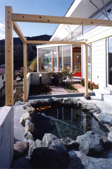 百景楼-海の別荘の部屋 露天風呂